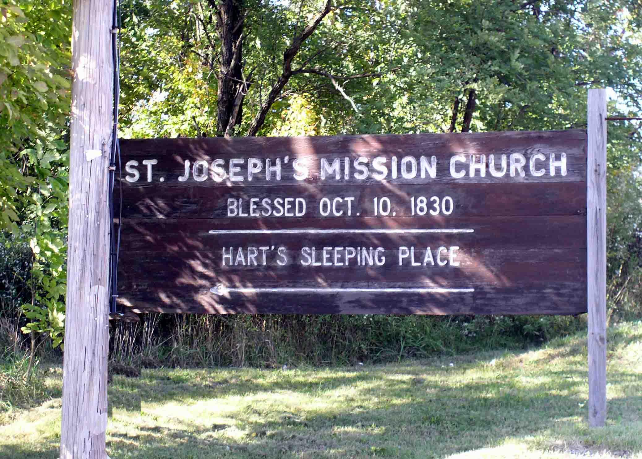 Saint joseph s mission church hart s sleeping place